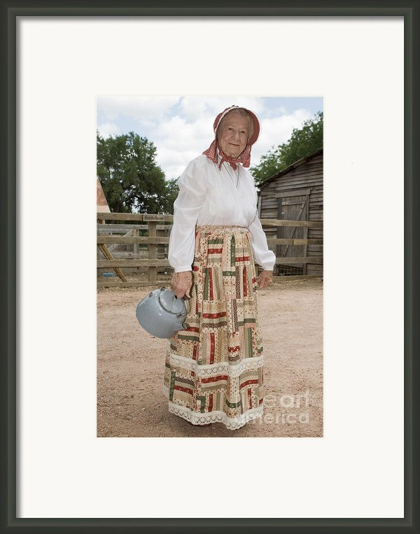 Farm Woman  Framed Print By Jim Pruitt