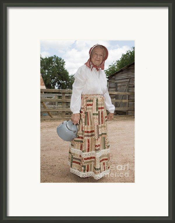 Farm Woman  Framed Print By Jim Pruitt
