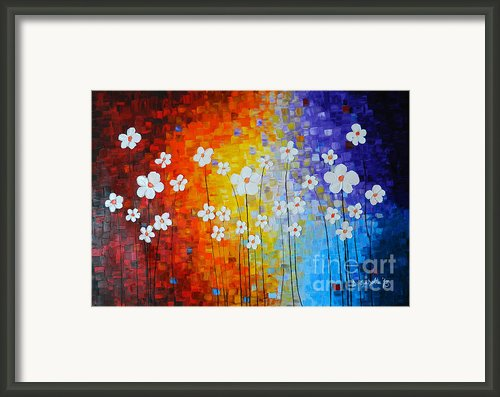 Flowers After Rain Framed Print By Denisa Laura Doltu