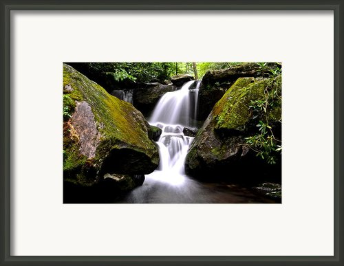 Grotto Falls Framed Print By Robert Harmon