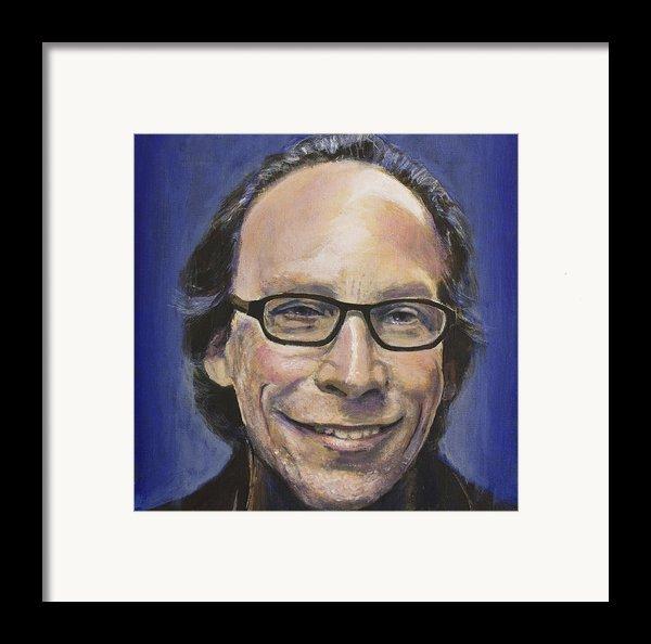 Lawrence Krauss Framed Print By Simon Kregar
