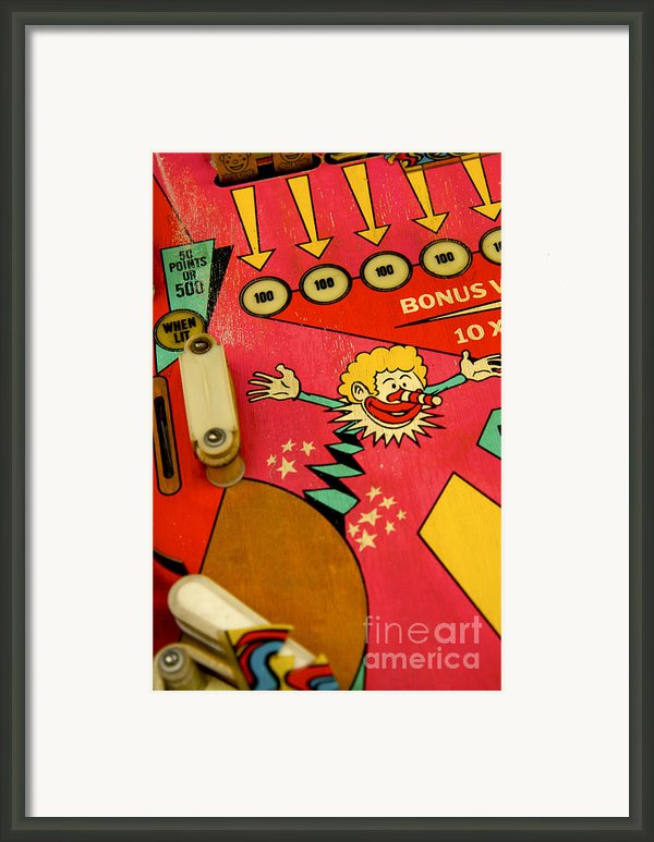 Pinball Machine Framed Print By Bernard Jaubert