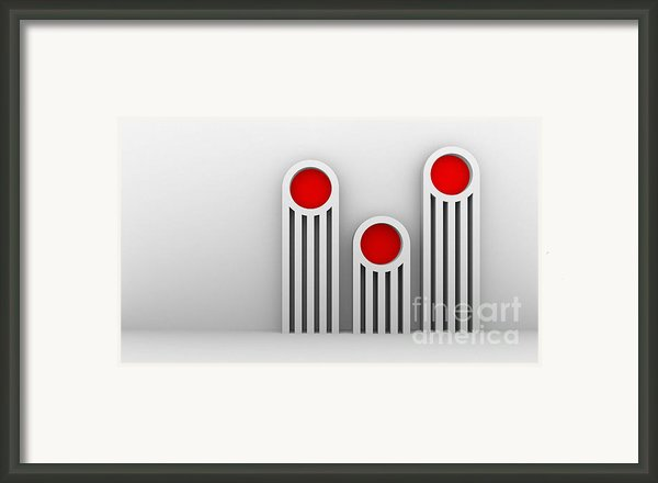 3 Red Illuminators Framed Print By Igor Kislev