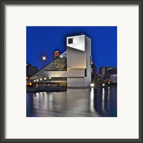 Rock And Roll Hall Of Fame Framed Print By Robert Harmon