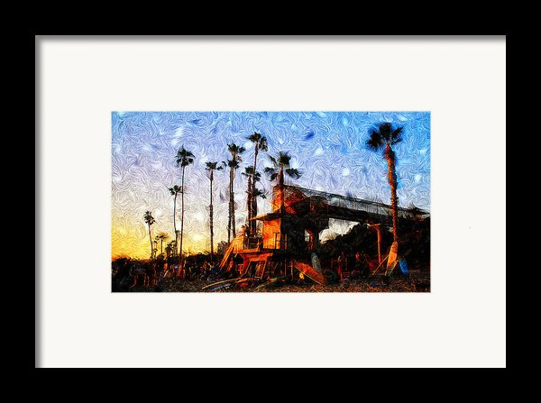 Surf Life Framed Print By Ron Regalado