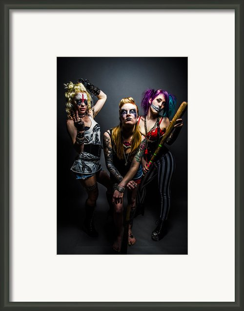 Team Violence Framed Print By Kyle James-patrick