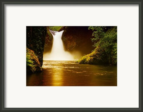 Upper Punch Bowl Falls Framed Print By Jeff  Swan
