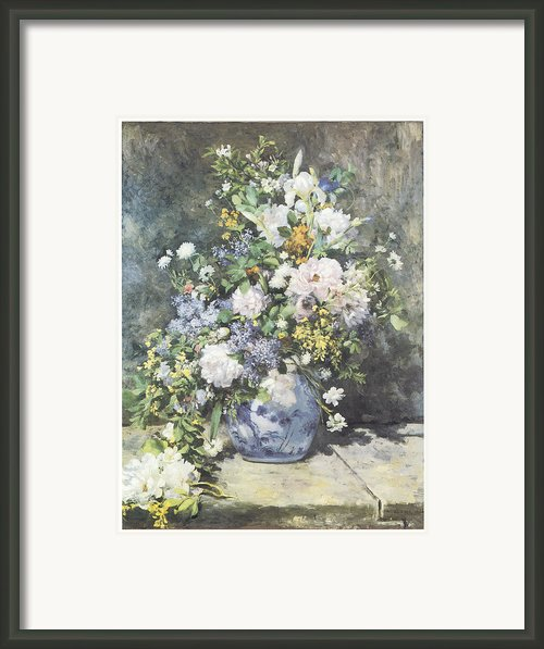 Vase Of Flowers Framed Print By Pierre-auguste Renoir