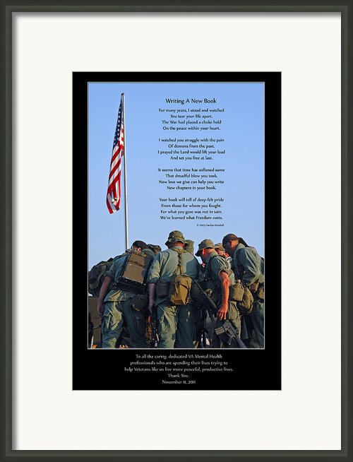 Veterans Remember Framed Print By Carolyn Marshall