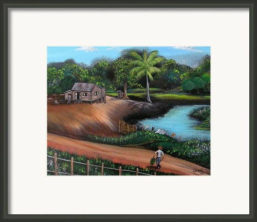 Walking Home Framed Print By Gloria E Barreto-rodriguez