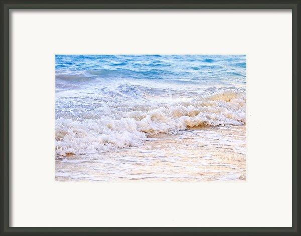 Waves Breaking On Tropical Shore Framed Print By Elena Elisseeva