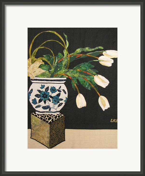 White Tulips Framed Print By Lynda K Boardman