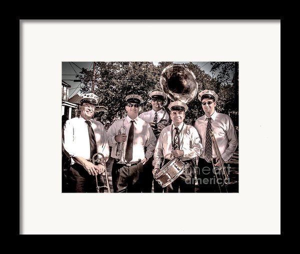 3rd Line Brass Band Framed Print By Renee Barnes