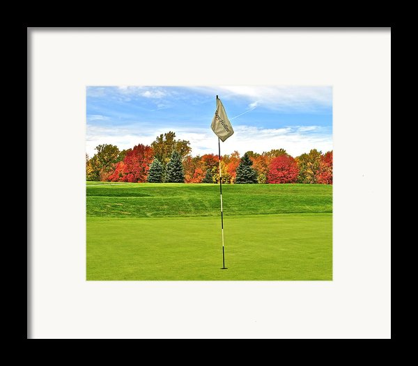 Autumn Golf Framed Print By Frozen In Time Fine Art Photography