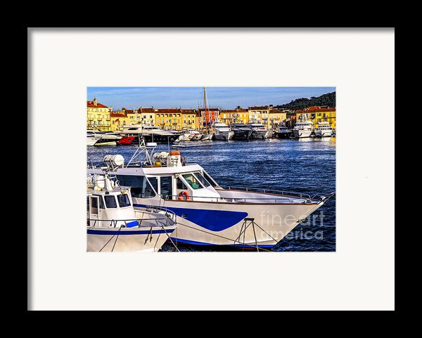 Boats At St.tropez Framed Print By Elena Elisseeva