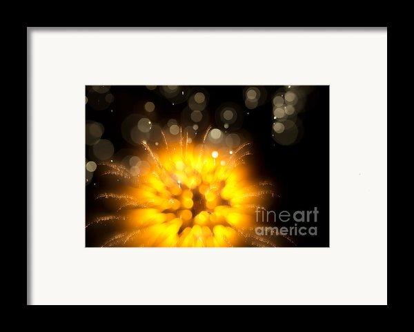 Fireworks Art Framed Print By Benjamin Simeneta