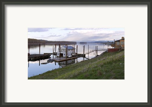 Floating House On The Columbia River. Framed Print By Gino Rigucci