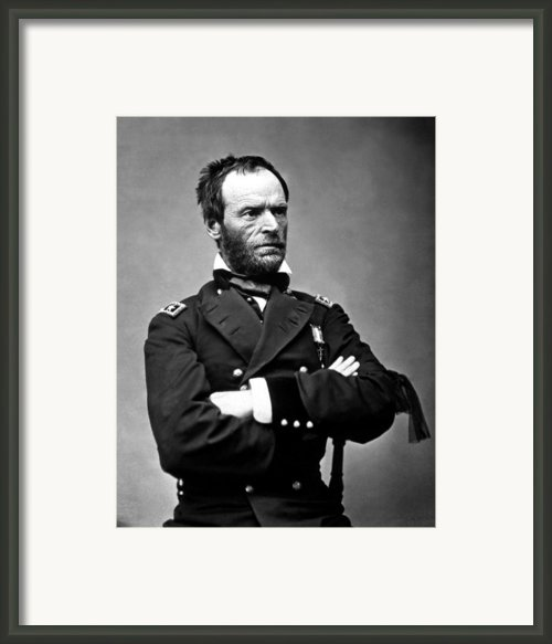 General William Tecumseh Sherman Framed Print By War Is Hell Store