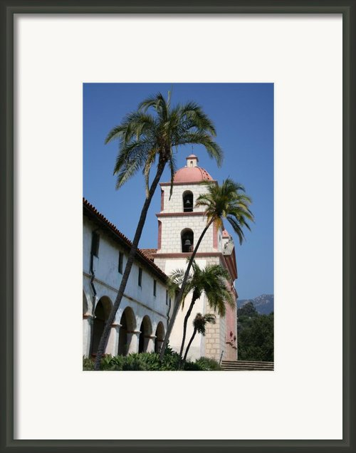 Mission Santa Barbara Framed Print By Christiane Schulze