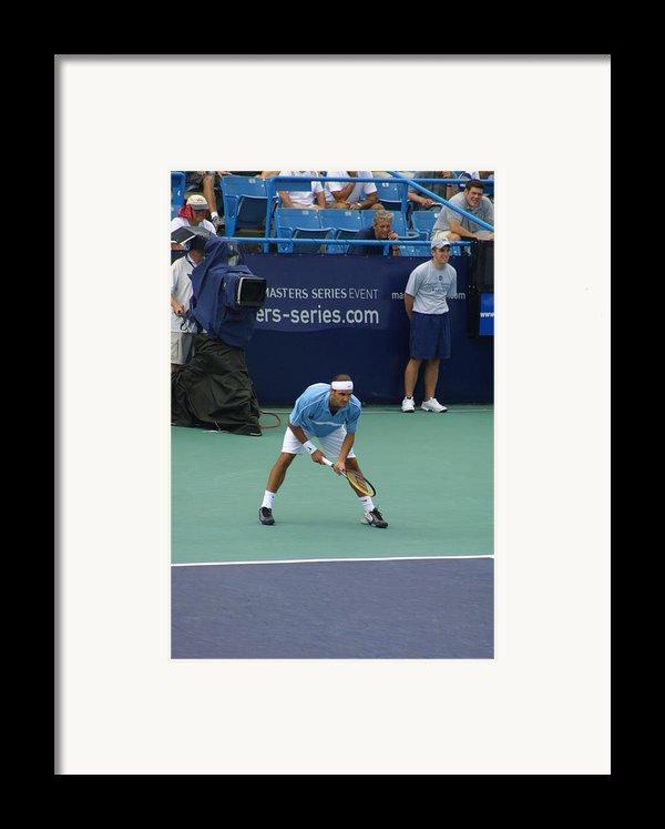 Roger Federer After 1st Slam Framed Print By Rexford L Powell
