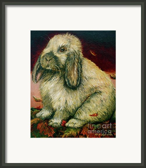 Some Bunny Is A Honey Framed Print By Linda Simon