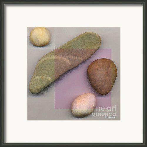 4 Stones Framed Print By David Klaboe