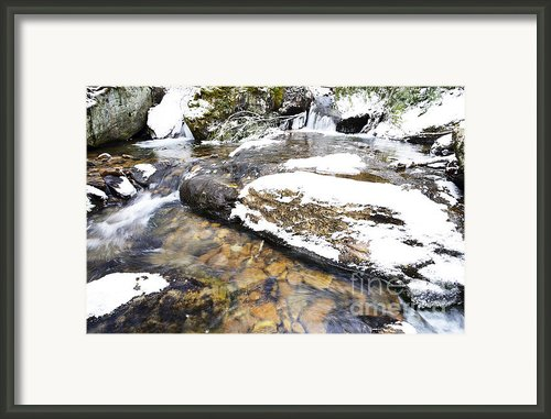 White Oak Run In Winter Framed Print By Thomas R Fletcher