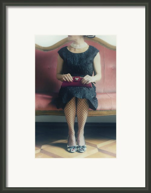 40s Lady Framed Print By Joana Kruse