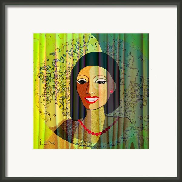 416 - Lady With Nice Teeth Framed Print By Irmgard Schoendorf Welch