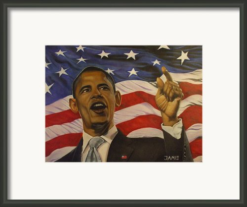 44th President Of Change  Framed Print By Jamie Preston