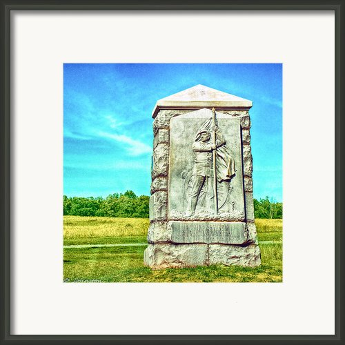 4th Michigan Infantry Memorial Gettysburg Battleground Framed Print By Nadine And Bob Johnston