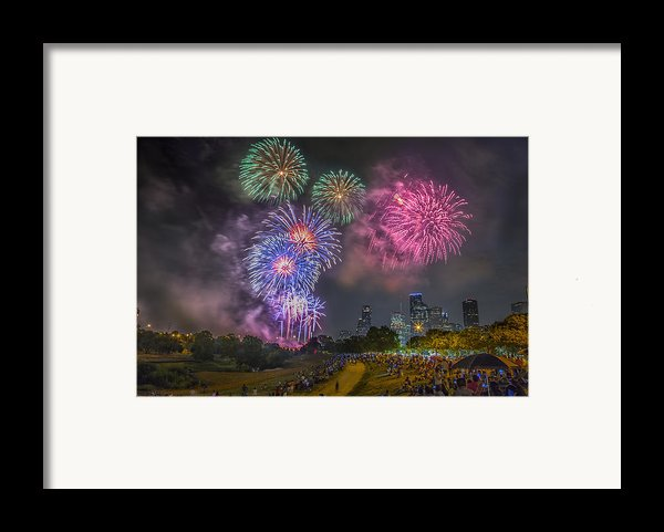 4th Of July In Houston Texas Framed Print By Micah Goff