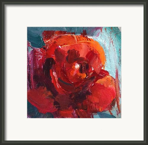 4x4 Rose Framed Print By Amantha Tsaros