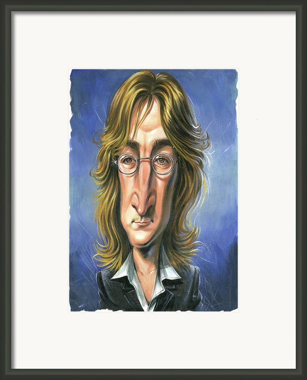 John Lennon Framed Print By Art