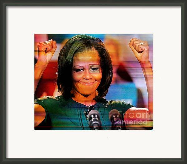Michelle Obama Framed Print By Marvin Blaine