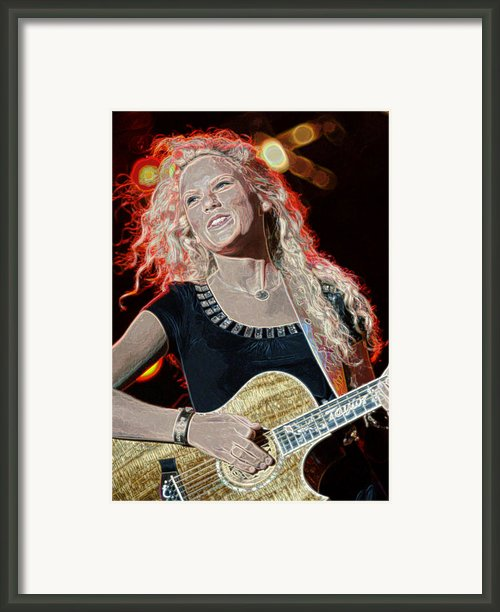 Taylor Swift Framed Print By Don Olea