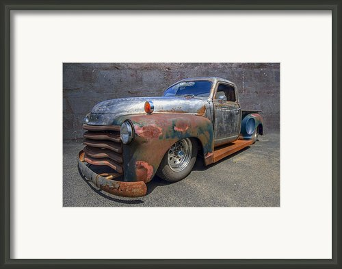 52 Chevy Truck Framed Print By Debra And Dave Vanderlaan