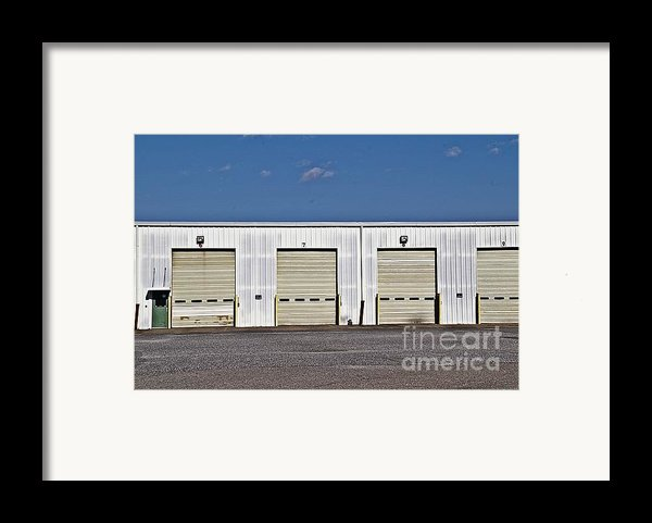 6 7 8 9 Warehouse  Framed Print By Jw Hanley