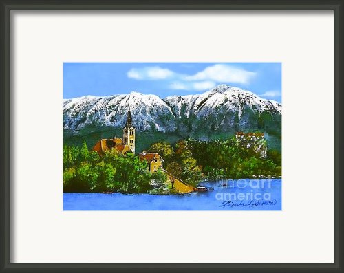 Remembering Bled Framed Print By Linda Simon