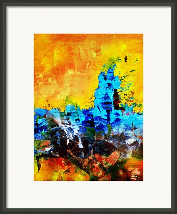 Abstract Framed Print By Deeb Marabeh