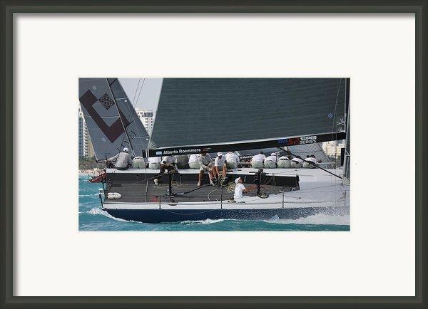 Tp52 Regatta Framed Print By Steven Lapkin