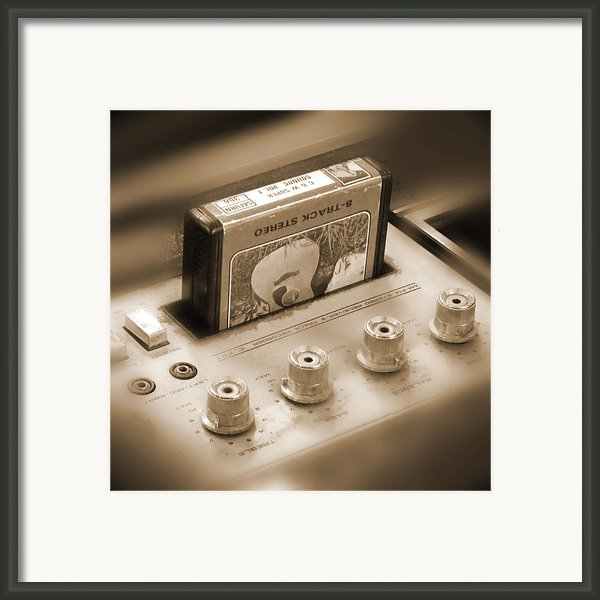 8-track Tape Player Framed Print By Mike Mcglothlen