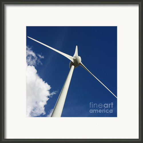 Wind Turbine Framed Print By Bernard Jaubert