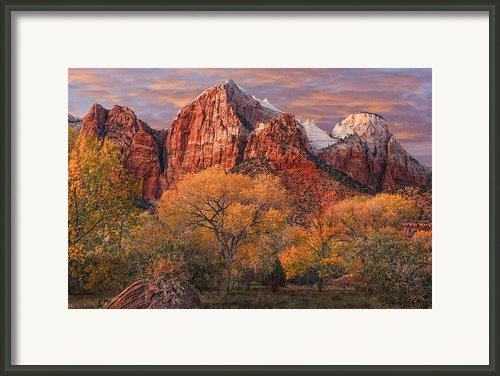 Zion National Park Framed Print By Utah Images