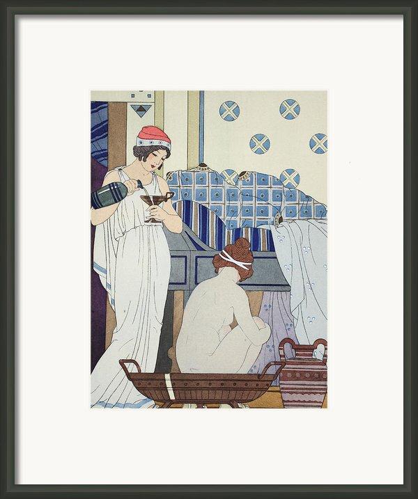 A Bath Seat Framed Print By Joseph Kuhn-regnier