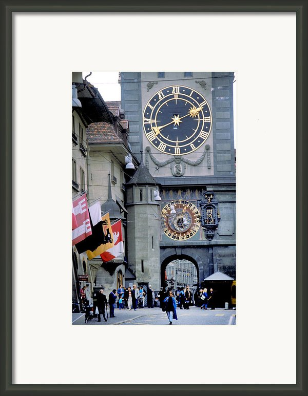 A Big Clock For Einstein Framed Print By Carl Purcell