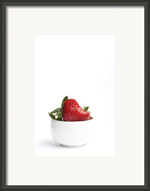 A Bite Of Strawberry Framed Print By Constance Fein Harding