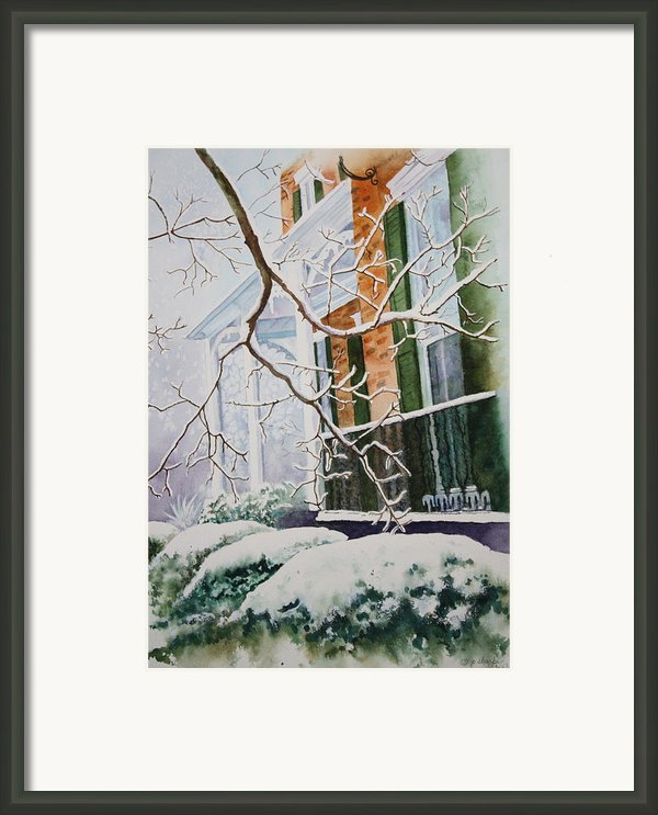 A Blanket Of Snow Framed Print By Patsy Sharpe