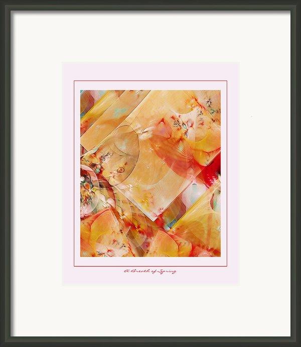 A Breath Of Spring Framed Print By Gayle Odsather