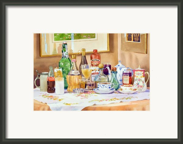 A Collection Of Drinks Framed Print By Mary Helmreich